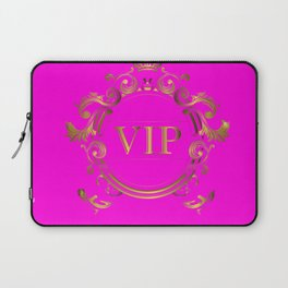 VIP in Hot Pink and Goldtones Laptop Sleeve