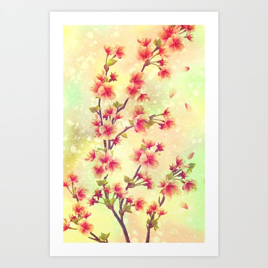 Peach Flowers - for iphone Art Print