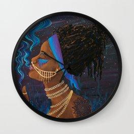 Rök ~ Goddess of Smoke & Stars Wall Clock