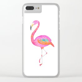 Flamboyant flamingo - bright watercolour painting Clear iPhone Case
