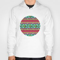 aztec Hoodies featuring Aztec by Shelly Bremmer