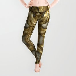 """Ancient Golden and Silver Medusa Myth"" Leggings"