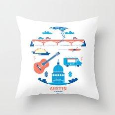 Love Letter to Austin, Texas Throw Pillow