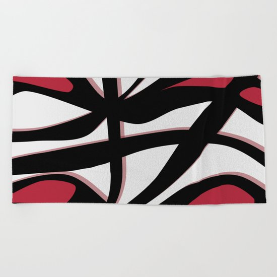 Tangled Red Beach Towel