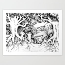 Ancient Forest Art Print