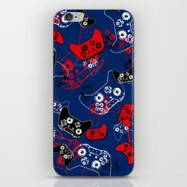 Video Game Red White & Blue 1 iPhone Skin