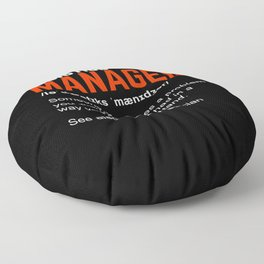 Funny Logistics Manager Gift Floor Pillow