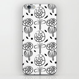 Pattern in Nordic Floral Style #7 iPhone Skin