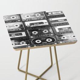 Something Nostalgic - black and white #decor #buyart #society6 Side Table