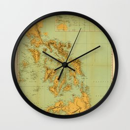 Map Of The Philippines 1898 Wall Clock