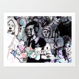 The Purple Mercury People Art Print