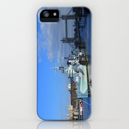 HMS Belfast, Tower Bridge and the Tower of London iPhone Case