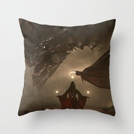 One Who Knows No Mercy Throw Pillow