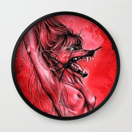 Let the red wolf in Wall Clock