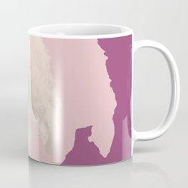 Henry Wadsworth Longfellow - portrait purple and white Coffee Mug