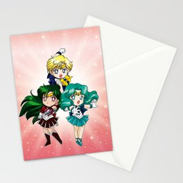 Outer Senshi - Chibi edit. Stationery Cards
