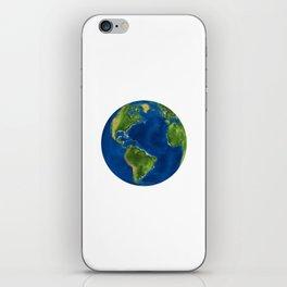the globe iPhone Skin