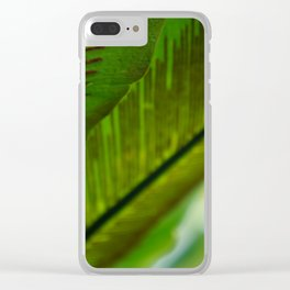 Spores on Leaves Clear iPhone Case