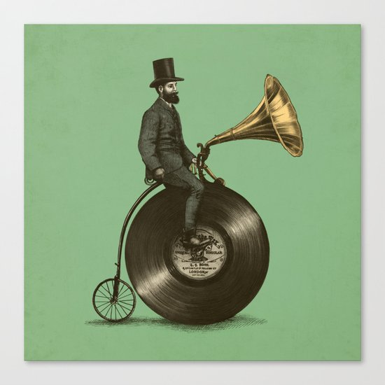 Music Man (Green Option) Canvas Print