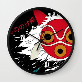 The Mask of Mononoke Hime Anime Wall Clock