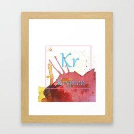 Elementals: Krypton Framed Art Print