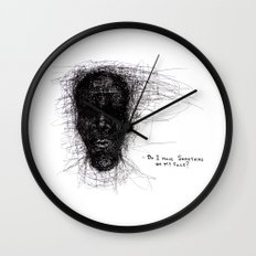 Scribble Face Wall Clock