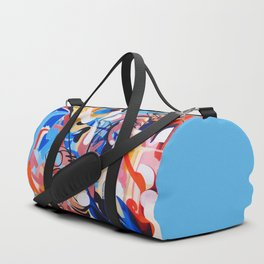Expressive Abstract People Composition painting Duffle Bag