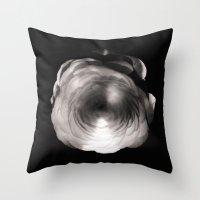 ass Throw Pillows featuring Mapplethorpe Ass Flower by Gwyneth