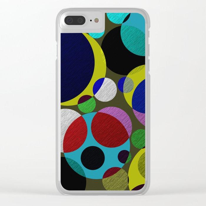 Bubbles - Fun, geometric, colourful design Clear iPhone Case