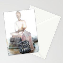 Lemurian Crystal & Buddha Stationery Cards