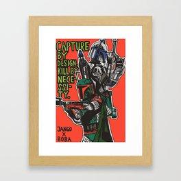 JANGO X BOBA Framed Art Print