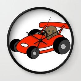 Cartoon Go-Kart Wall Clock
