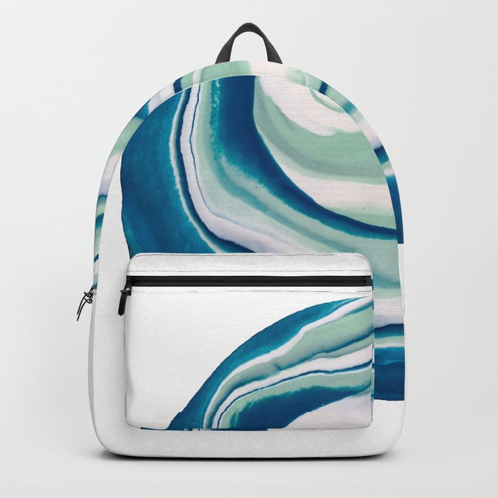 Marbling Turquoise Dreams Backpack