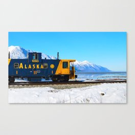 Caboose - Alaska Train Canvas Print