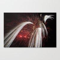 fireworks Canvas Prints featuring Fireworks by Carolina Jaramillo
