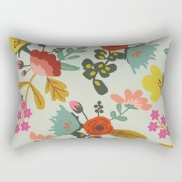 Muted Tone Floral Rectangular Pillow