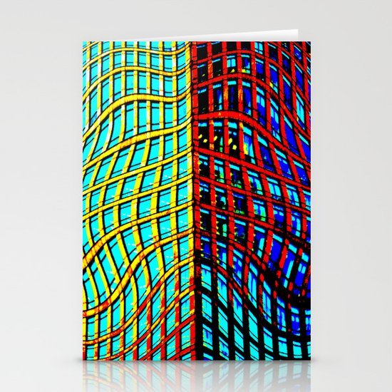 Collapsing Skyscraper Stationery Cards