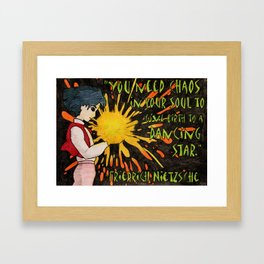 Howl Meets Nietzsche Framed Art Print