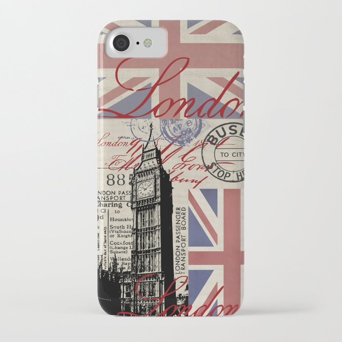 London Great Britain Big Ben Flag Collage iPhone Case