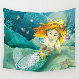 How mermaids get new books Wall Tapestry