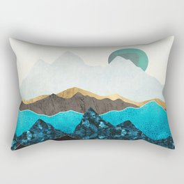 Teal Afternoon Rectangular Pillow
