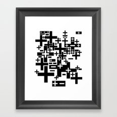 PLUS/MINUS Framed Art Print