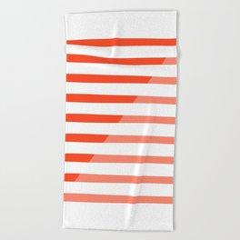 Beach Stripes Red Pink Beach Towel