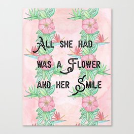 Surfer girl quotes Canvas Print