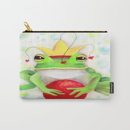 Whimiscal Frog with Red Ball Carry-All Pouch
