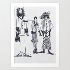 Fashion Doodle #16 Art Print