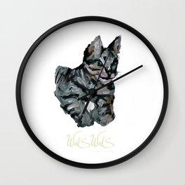 PURPLE CAT Wall Clock