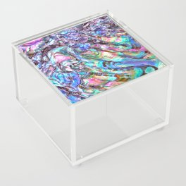 Shimmery Rainbow Abalone Mother of Pearl Acrylic Box