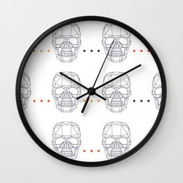 Skull Pattern Wall Clock