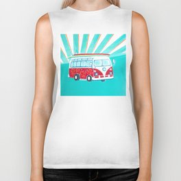Surfer Sunrise Biker Tank